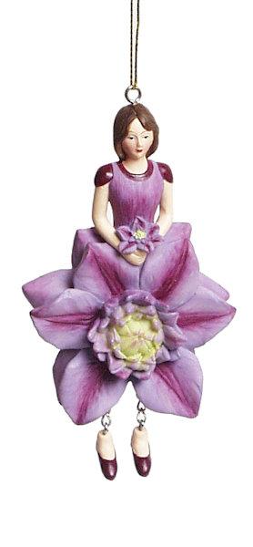 Clematis bloemenmeisje lila