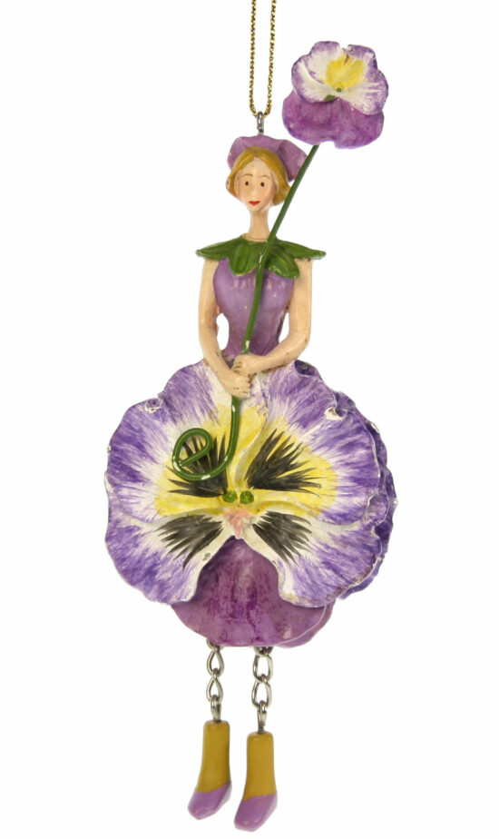 Viooltje bloemenmeisje