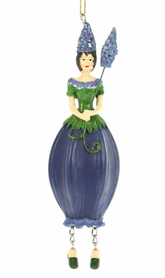 Blauwe druif bloemenmeisje
