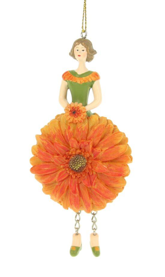 Gerbera bloemenmeisje oranje