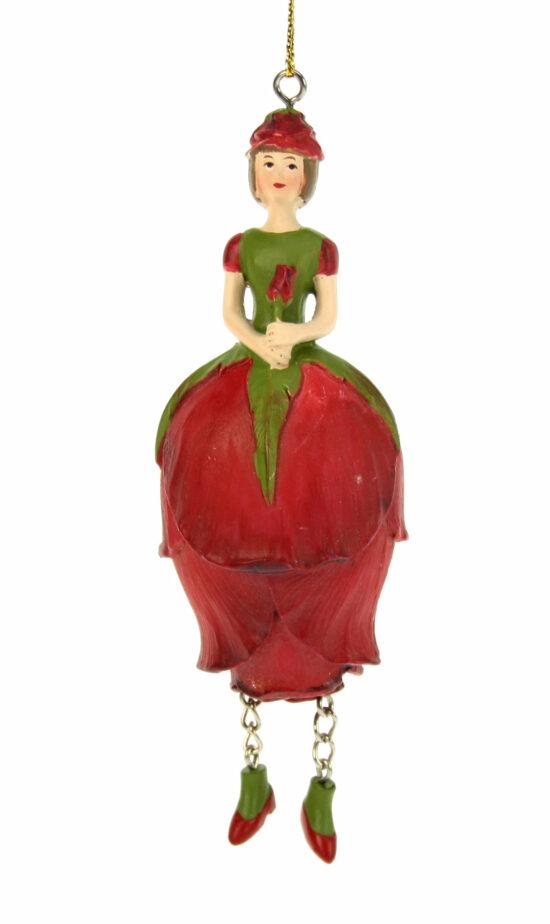 Rozenknop bloemenmeisje rood
