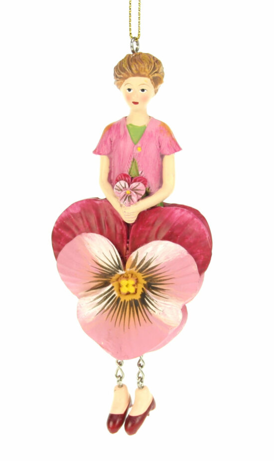 Viool bloemenmeisje roze