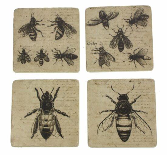 Onderzetters Bijen, set van 4