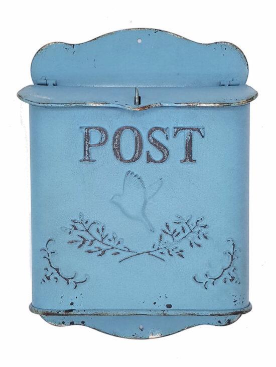 Nostalgische brievenbus Turquoise