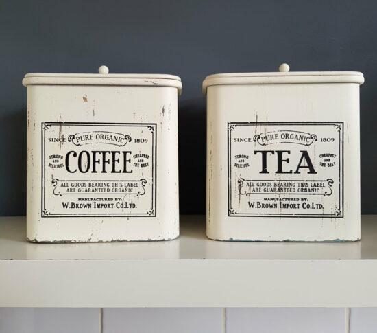 Voorraadblikken Coffee & Tea set van 2