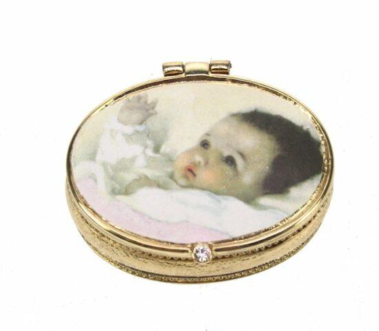 Tandendoosje Baby roze goudkleurig