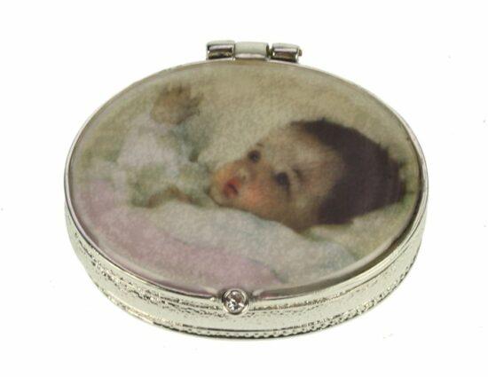 Tandendoosje Baby roze zilverkleurig
