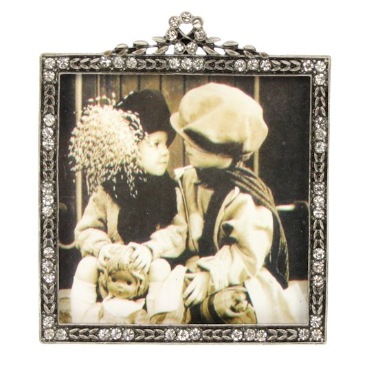 [:nl]Fotolijstje strass antique look zilver[:]