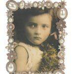Fotolijstje parel en strass-steentjes