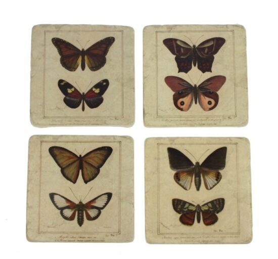 Onderzetter Vlinder set van 4