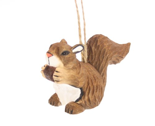 Eekhoorntje, hout ornament