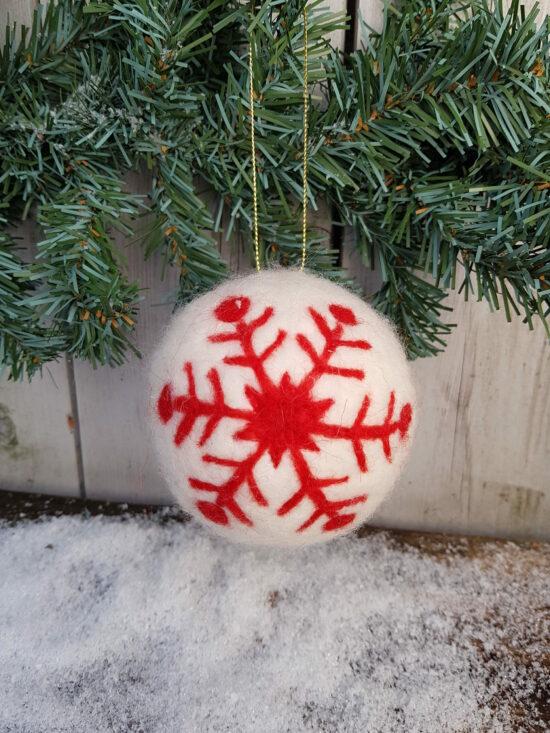 Kerstbal vilt met sneeuwster