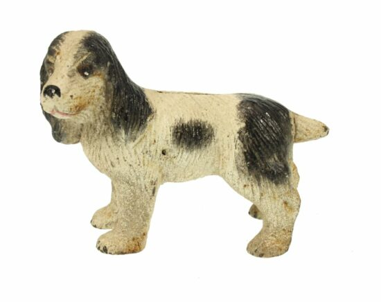 Antique look spaarpot hond