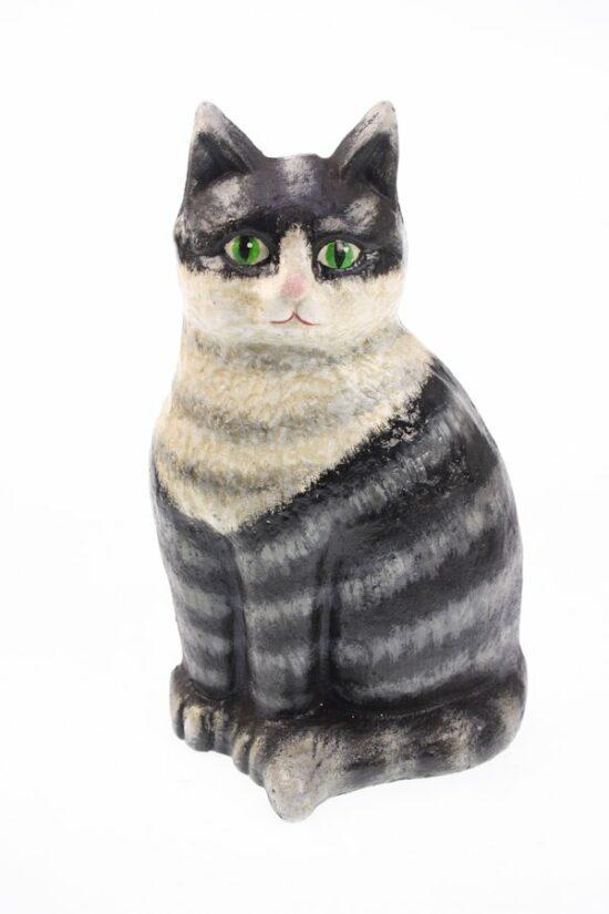 Deurstopper Kat grijs gietijzer