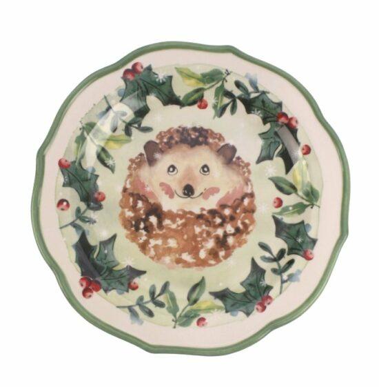 Dinerbord Egel Kerst