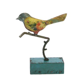 Vogeltje staand op voetje