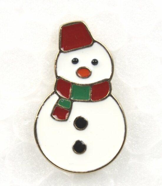 Kerst pin Sneeuwpop