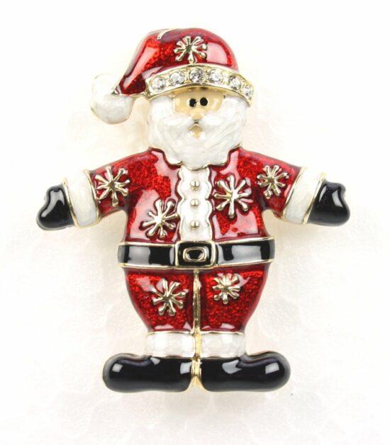 Kerst broche Kerstman