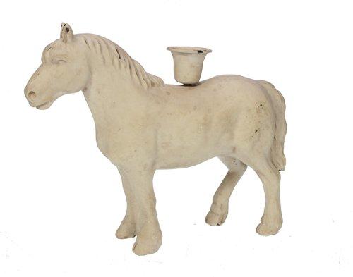 Kandelaar paard Creme