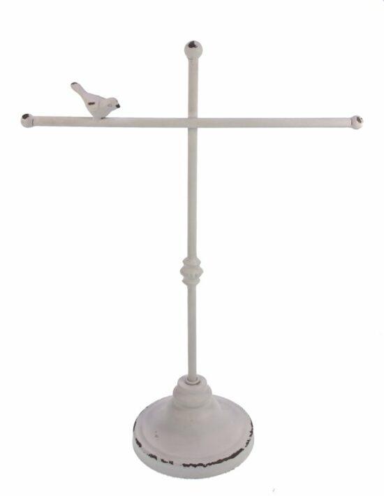 Sieradenrek met vogel wit