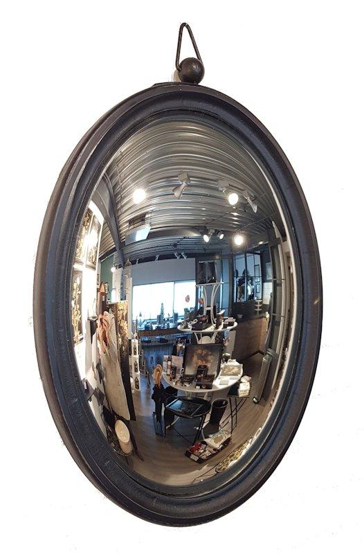 Butler spiegel hout zwart
