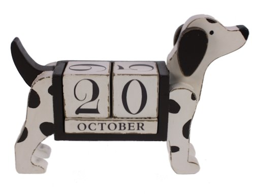 Hond kalender zwart/wit