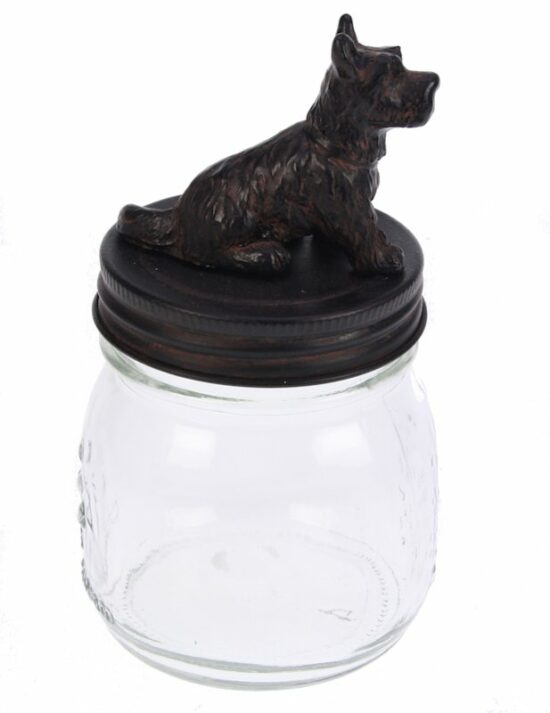 Pot met deksel Zwart terrier