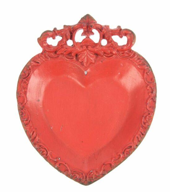 Hart schaaltje rood