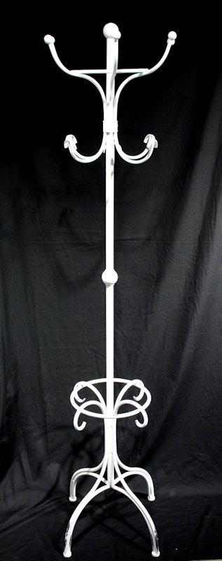 Kapstok staand antique wit metaal Ø52xH192cm