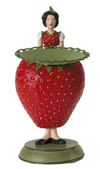 Aardbeienmeisje met schaaltje