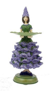 Lavendel meisje grt kaarsenhouder 9x11x18cm