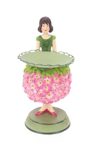 Geranium meisje kaarsenhouder 7x10x14cm
