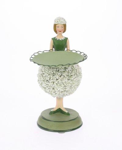Allium meisje wit kaarsenhouder 6x10x14cm