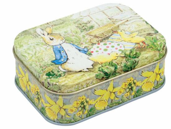 Blikje Peter Rabbit met ei