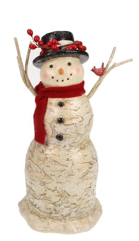 Sneeuwpop met rode sjaal