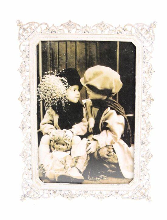 Fotolijst met kroon rechthoekig 6x10cm