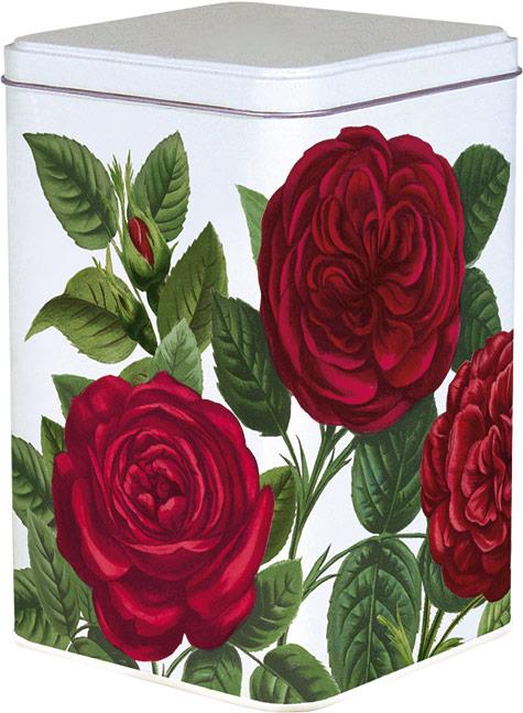Blik met rode rozen