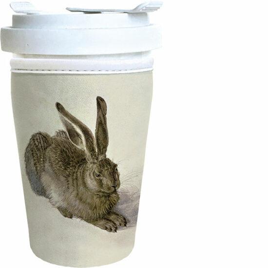 Coffee to go beker met beschermhoes afbeelding Haas Dürer