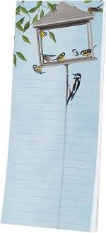 Notitieblok met magneet Vogels in huisje