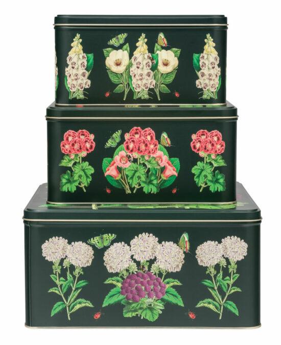 Blikken Botanisch Madame Treacle set van 3
