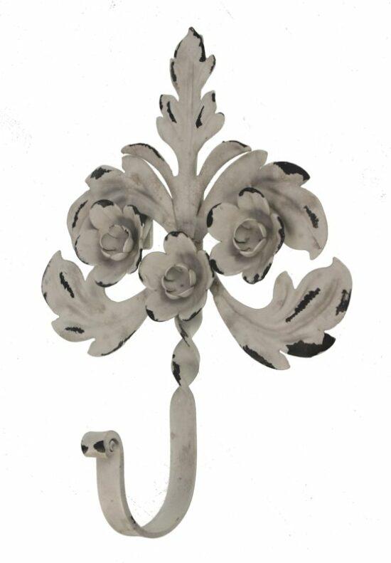 Wandhaak bloemetje metaal