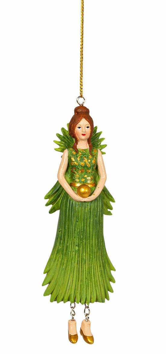 Palmblad meisje hangend