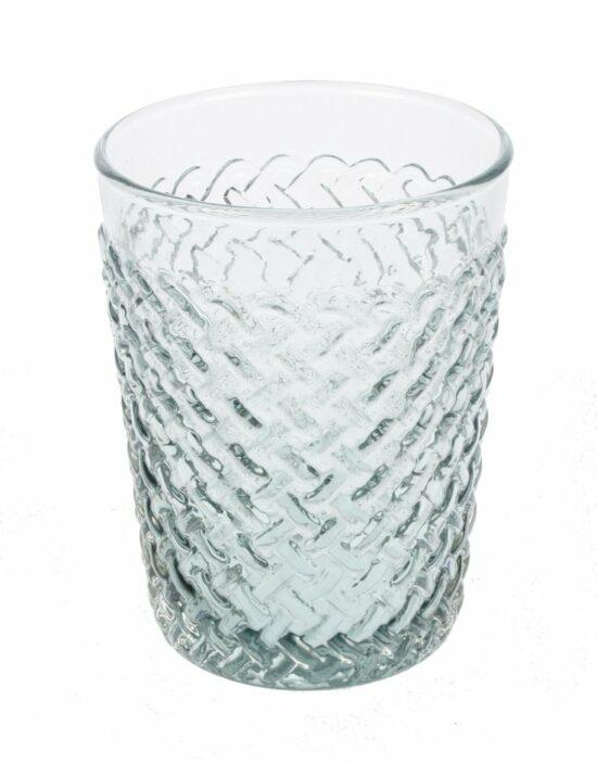 Glas vlechtwerk lichtgrijs