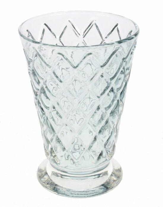 Glas ruit motief licht grijs