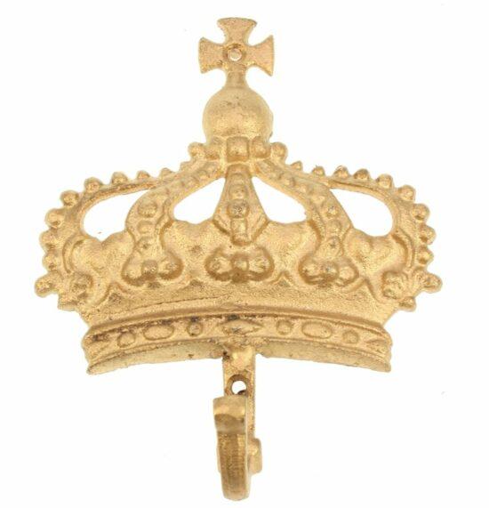 Wandhaak Kroon goudkleurig