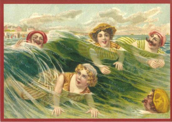 Ansichtkaart Zwemmen in zee
