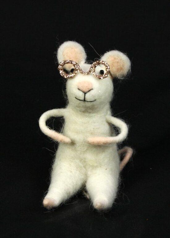 Muis met bril vilt