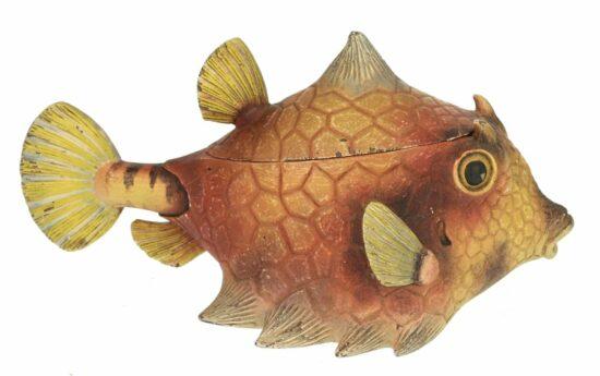Decoratieve opbergdoos tropische vis