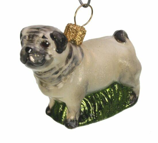 Kerstbal Mops hond klein