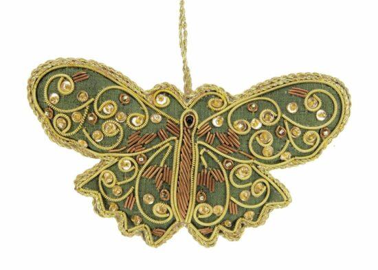 Vlinder groen ornament hangend